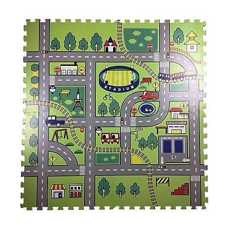 Fantastic 2 X 2 Ceiling Tile Huge 2 X2 Ceiling Tiles Shaped 2X2 Ceramic Tile 2X2 White Ceramic Tile Youthful 2X4 Ceiling Tiles Home Depot Red2X4 Subway Tile Backsplash Amazon.com: Road Rally Play Foam Floor Tiles For Kids   Jumbo ..