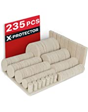 Furniture Pads Floor Protectors X-PROTECTOR - Best Felt Pads 235 - Premium Furniture Felt Pads for Furniture Feet. Huge Quantity Adhesive Pads – Chair Leg Floor Protectors. Protect Your Wood Floors!