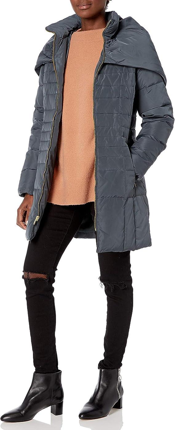 Cole Haan 可汗 披肩领 女式中长款连帽羽绒服 M码0.9折$25.86 海淘转运到手约¥272