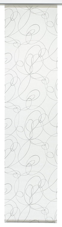 GARDINIA Panneau Japonais (1 Pièce), Opaque, Tissu Lavable, Motifs Balles, Blanc/Gris, 60 x 245 cm (LxH) 1122060245