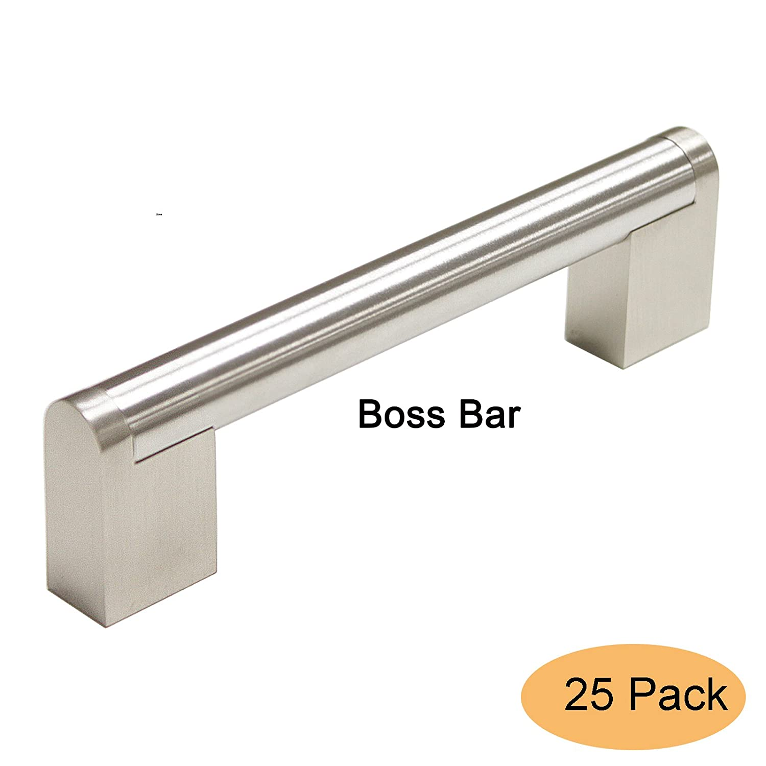 Hole Centers Euro Style T Bar Drawer Cabinet Hardware Kitchen Handle Pull 96mm Gobrico Satin Nickel 3-3//4 6 Overall Length-15Packs 6 Overall Length-15Packs