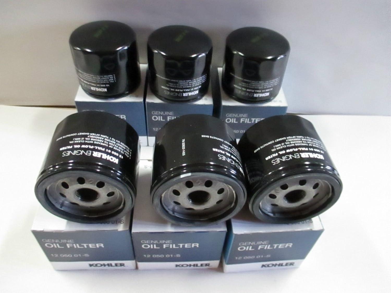 KOHLER 12 050 01-S Engine Oil Filter For CH18 - CH25 And CV18 - CV25- 6 pack