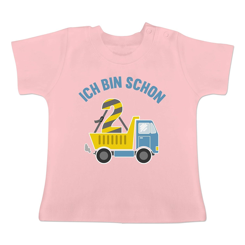 Baby T-Shirt Kurzarm Ich Bin Schon 2 LKW Geburtstag Baby