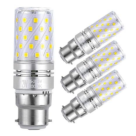 Sagel B22 LED Bombillas de Maíz 12W, 100W Bombillas Incandescentes Equivalente, 3000K Blanco Cálido