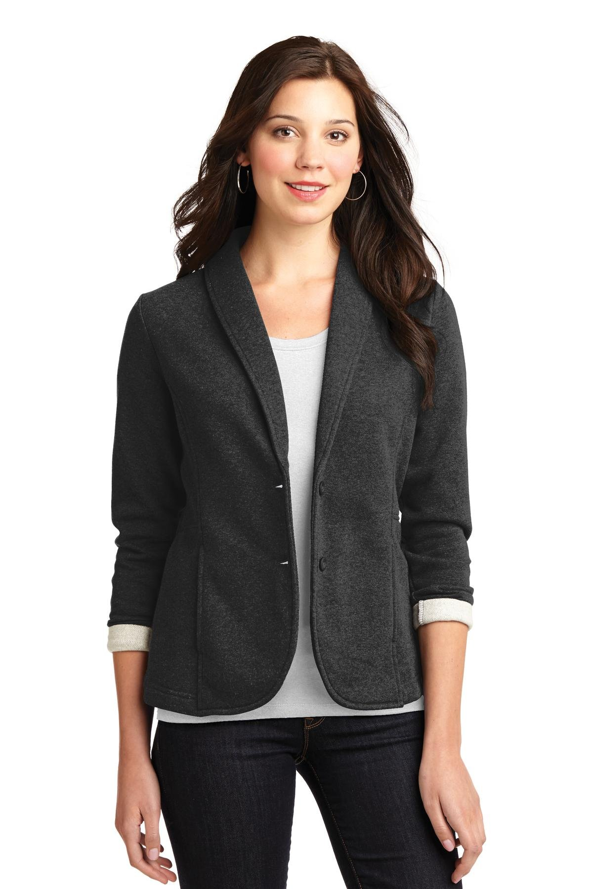 Port Authority Women's Fleece Blazer XL Dark Charcoal Heather