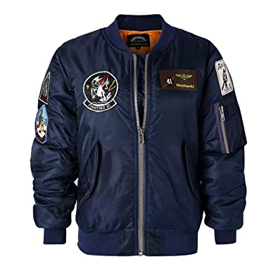 Avidace Classic Bomber Jacket Women Nylon Quilted With Patches At