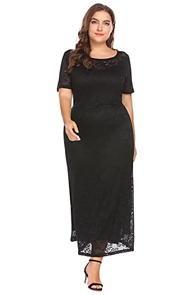 Zeagoo Womens Plus Size 34 Flare Sleeve Ruched Party Cocktail