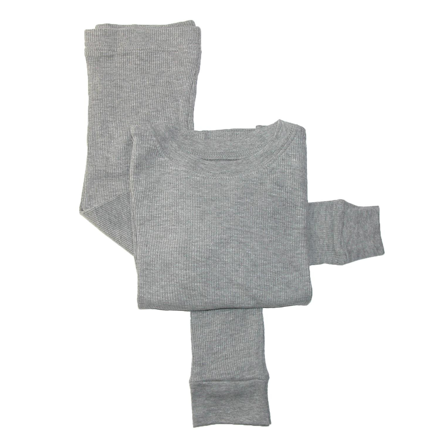 CTM Boys' Thermal Top and Bottom Set 16/18 Heather Grey TE-9119-GRY-16/18