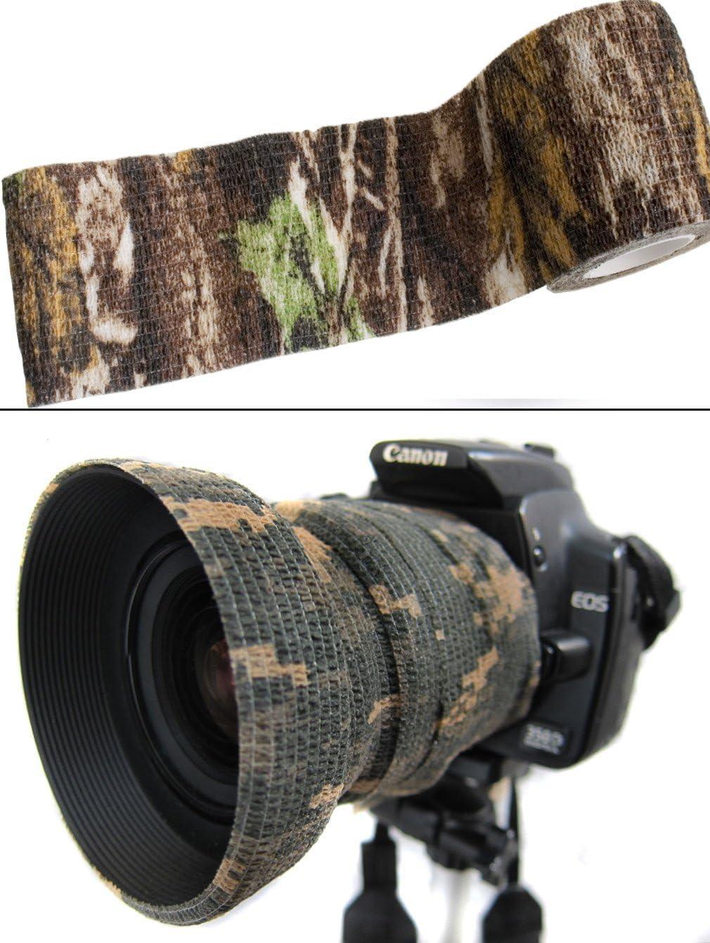 4,5 m fotograf/ías Cinta de Camuflaje con dise/ño de /árbol Real Impermeable Cazadores Outdoor Saxx/® para c/ámara Multiusos Pesca