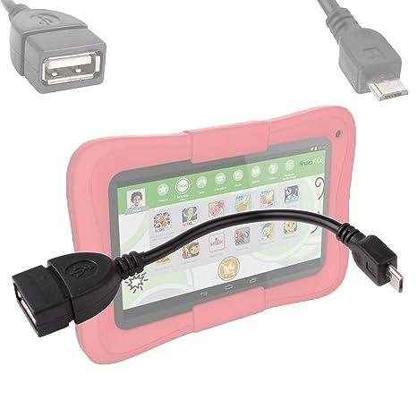 """DURAGADGET Adaptador USB 2.0 – Micro USB para Fnac Kids Kurio 7 """"Tablet táctil"""