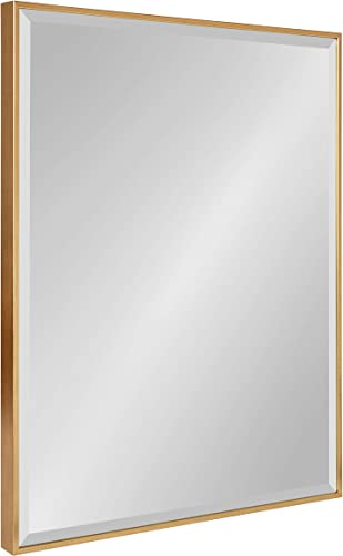 Kate and Laurel Rhodes Large Framed Decorative Rectangle Wall Mirror, 22.75×28.75 Gold