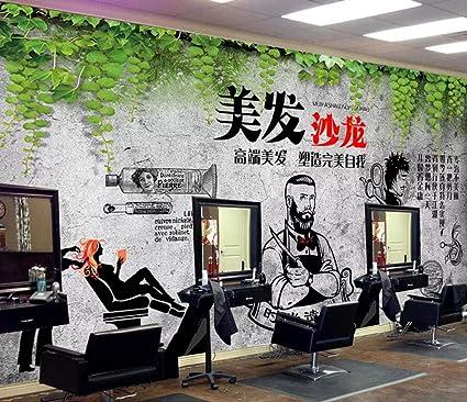 Afashiony 3d Mural Wallpaper Wall Decoration Hair Salon