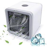 Tragbare Klimaanlage, Luftkühler 3-in-1 Mini-Kühler Verdunstungsluftbefeuchter Luftreiniger USB-Klimaanlage mit Klimaanlage Persönliche Luftreiniger Luftbefeuchter mit 7 bunten LED-Leuchten