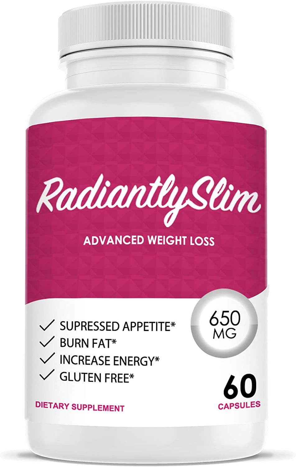 Radiantly Slim Pills for WeightLoss – Advanced Weigh Loss Supplement – Quicker Fat Burn – Carb Blocker