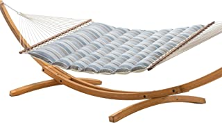 product image for Hatteras Hammocks Milano Char Sunbrella Pillowtop Hammock with Free Extension Chains & Tree Hooks, Handcrafted in The USA, Accommodates 2 People, 450 LB Weight Capacity, 13 ft. x 55 in.