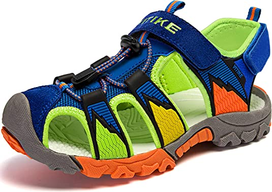 Amazon.com | Kids Sports Sandals Summer Outdoor Open Toe Beach Sandals  Water Shoes for Boys Girls | Sandals