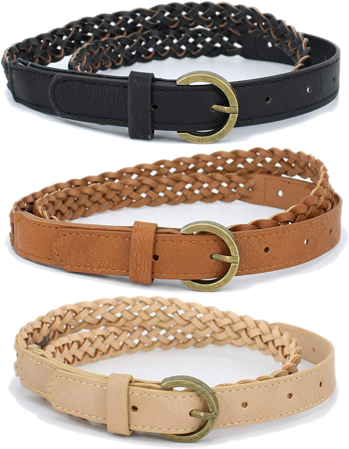 Trio Set Skinny Belts With...