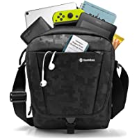 tomtoc Crossbody Bag, Travel Bag Waterproof Shoulder Bag for 10 Inch New iPad Air and iPad Mini 2019, New iPad Pro 11 Inch with Large Storage Shoulder Strap and Accessory Pockets, RFID Safe Slot