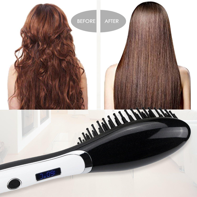 Broadcare - Cepillo térmico alisador, plancha para cabellos con ...