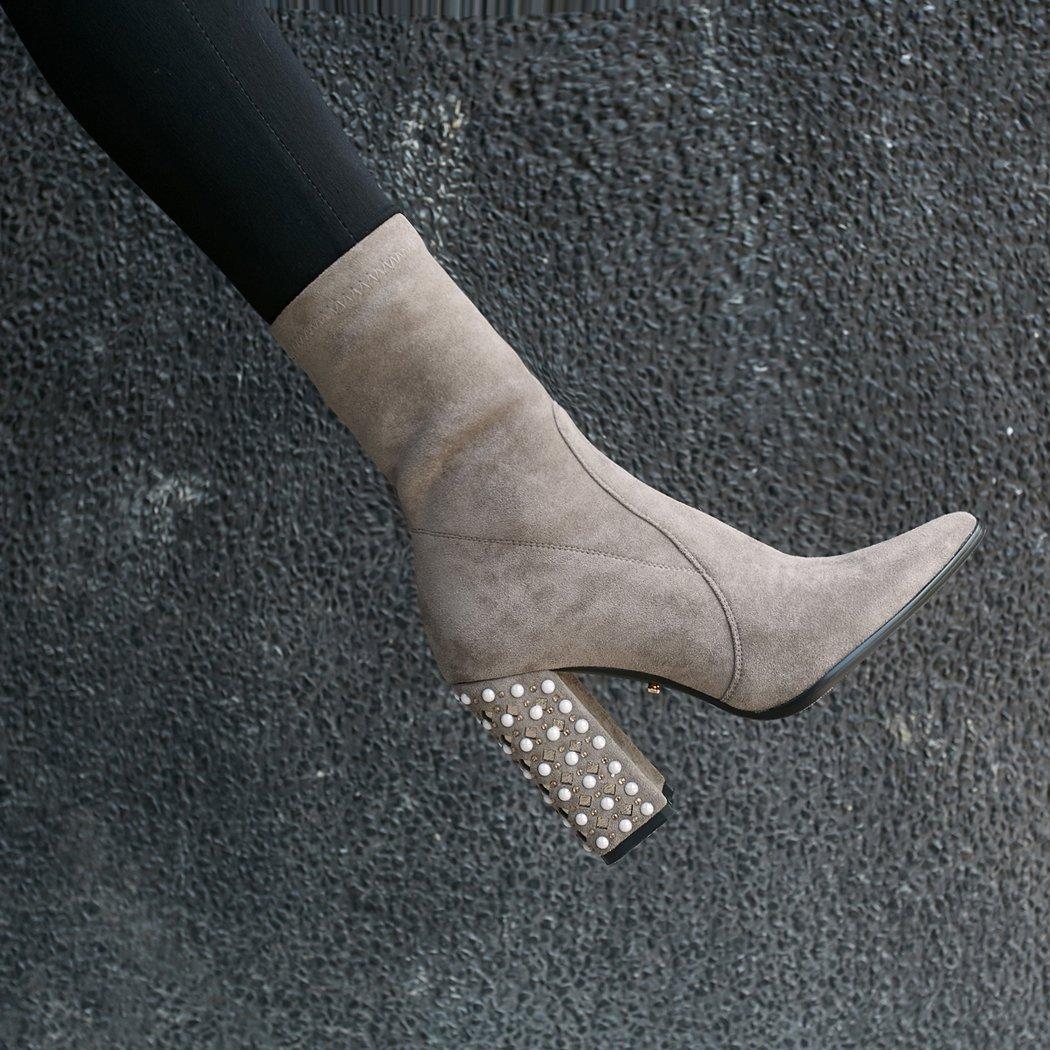 ANNIEschuhe Stiefeletten Damen Stiefel Ankle Stiefel Damen Elegant mit Absatz c91037