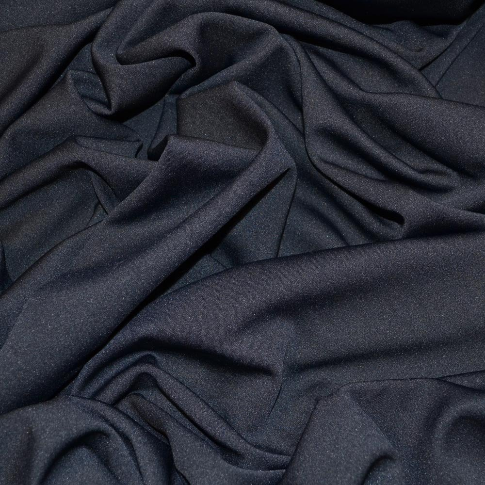 Navy Scuba Stretch Crepe Fabric (C7667) SKU07843