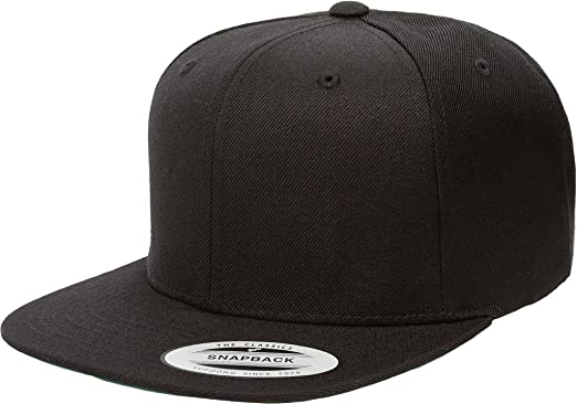 Flexfit Classic Wool Snapback with Green Undervisor Yupoong 6089 M T (Black) 4f039b6a6a6