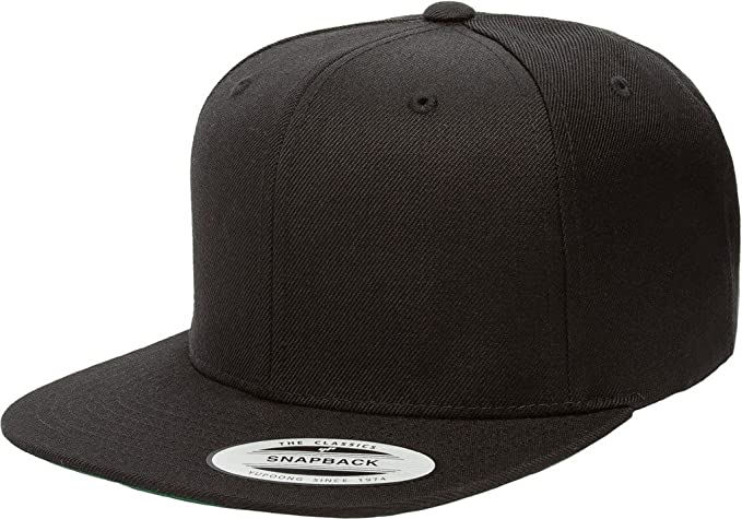 5b4a24a660e Flexfit Classic Wool Snapback with Green Undervisor Yupoong 6089 M T (Black)