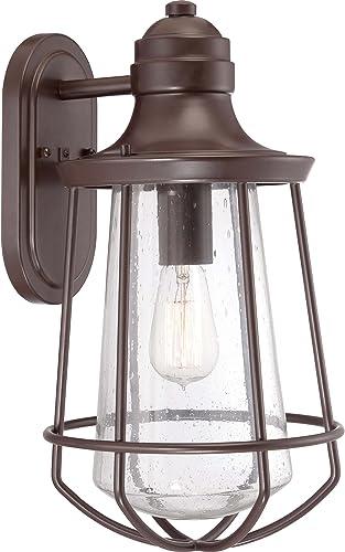 Quoizel MRE8409WT Marine Vintage Industrial Outdoor Lantern Wall Sconce, 1-Light, 100 Watts, Western Bronze 17 H x 10 W