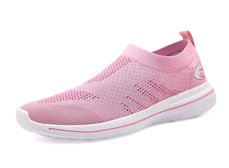 Leader shoes Women's Walking Shoes Free Transform Breathable Flyknit Fashion Sneakers (9, PINIK/White)