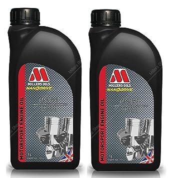 Millers CSS 10W40 Motorsport - Aceite Semi sintético para Motor, 2 litros: Amazon.es: Coche y moto
