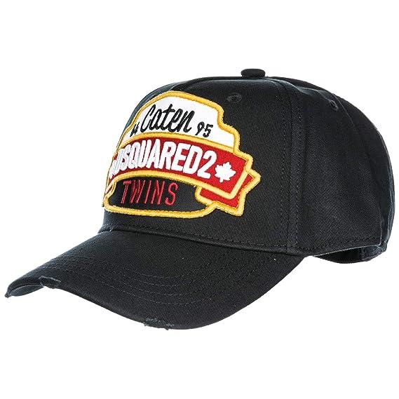 3de604a3ecc6c0 Image Unavailable. Image not available for. Colour: Dsquared2 adjustable  men's cotton hat baseball cap Caten ...