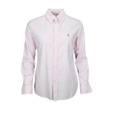 Chemise Ralph Lauren Harper rayée rose et blanche pour femme  Amazon ... d7ccb9b8722