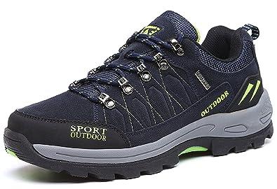 NEOKER Trekkingschuhe Herren Stiefel Wanderschuhe Outdoorschuhe Hiking Schuhe Blau 42 KxIBN2