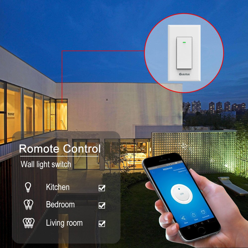 Wi Fi Smart Wall Light Switch Touch Voice And Remote Control Which Wires Connect To What On The It Makes Sense Me Lights Appliances Timing Function Compatible With Alexa Google Assistant No Hub Required Natural Wire