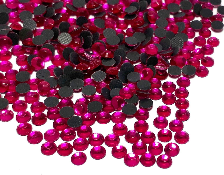 Perlin Hotfix 488 - Piedras de estrás, 3 mm, SS10, 7200 unidades, rosa fucsia, calidad AAA, para planchar, piedras brillantes, piedras brillantes, piedras de estrás, cristales autoadhesivos