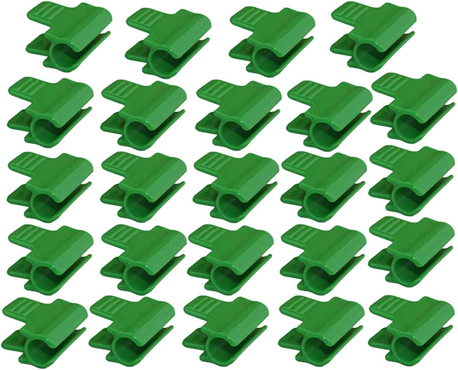 Firlar 24Pcs Pipe Clamps, Greenhouse Clamps Clips Row Cover Netting Tunnel Hoop Clips for 16mm/0.63inch Plant Stakes, Shed Film Shading Net Rod Clip for Greenhouses Frame Shelters