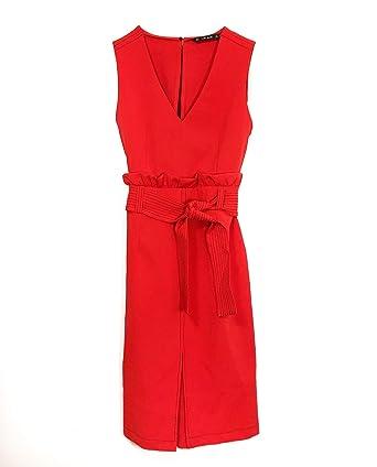 e296f0b5971 Zara Women's Sleeveless Dress Red red - Red - Large: Amazon.co.uk ...