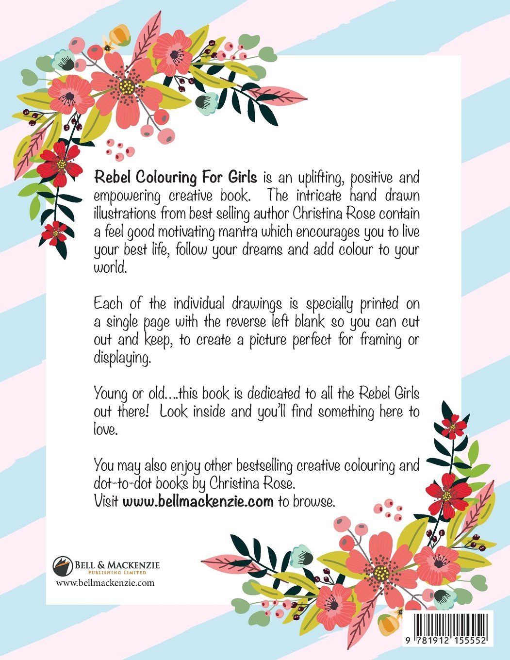 Rebel Colouring For Girls: Motivating Messages & Marvellous Mantras ...