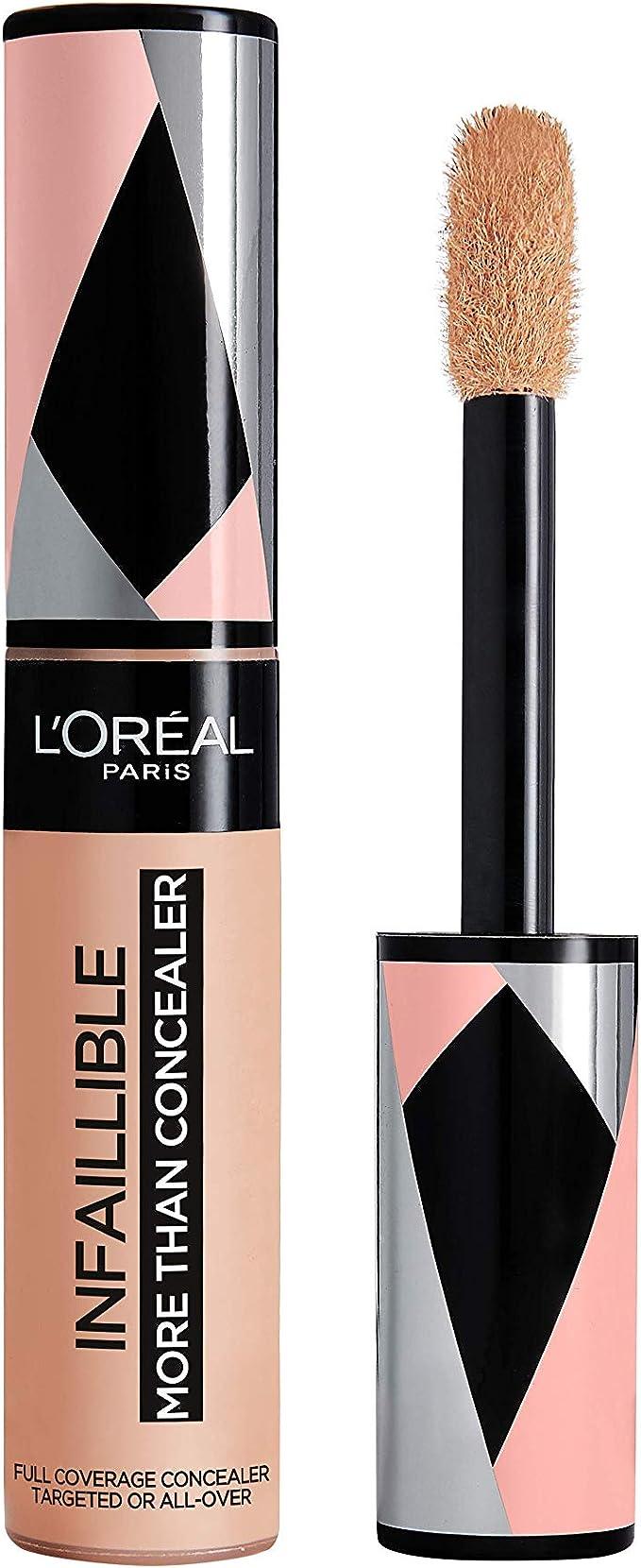 LOreal Paris Infalible More Than Concealer, Corrector Cobertura Completa, Tono 327 Cashmere - 11 ml