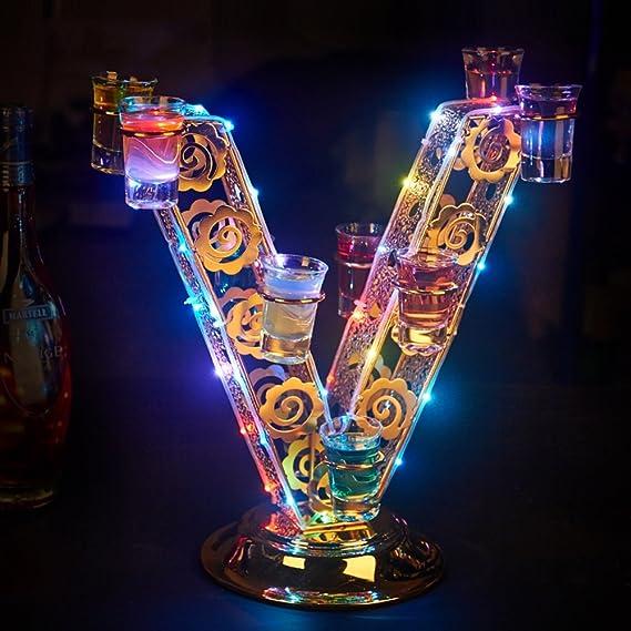 Wine rack LVZAIXI Portavasos LED de Metal Ligero Letras de Tazas de Playa de Champagne Amor Portavasos de Bombilla (Color : Love): Amazon.es: Hogar