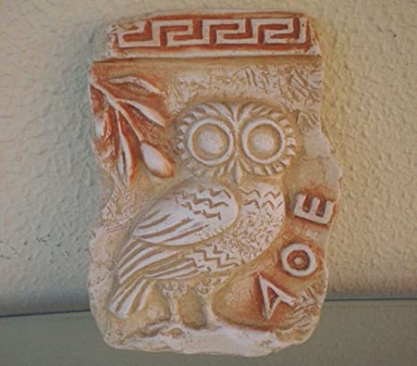 Amazoncom Owl Of Athens Relief Ancient Greek Art Goddess Athena