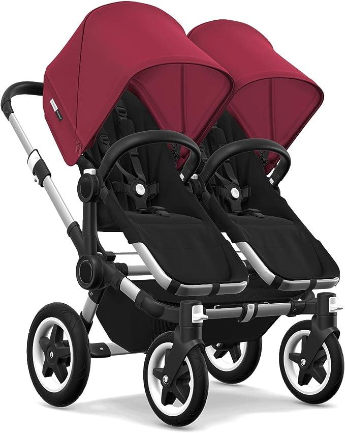Bugaboo Donkey 2 Mono carrozzina e passeggino 2 in 1 estensibile nero//rosso rubino