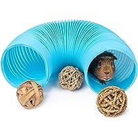 Amacigana - Juguete para mascotas, túneles y tubos, conejillo de indias, juguete para escondite de conejillo de indias…