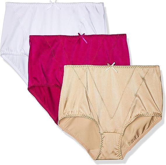 Amazon Com Ilusion 32155 Bragas De Control Firme Para Mujer 3 Unidades Encaje Multicolor Tamano Mediano A Xgrande Suave Xl Multicolor Clothing