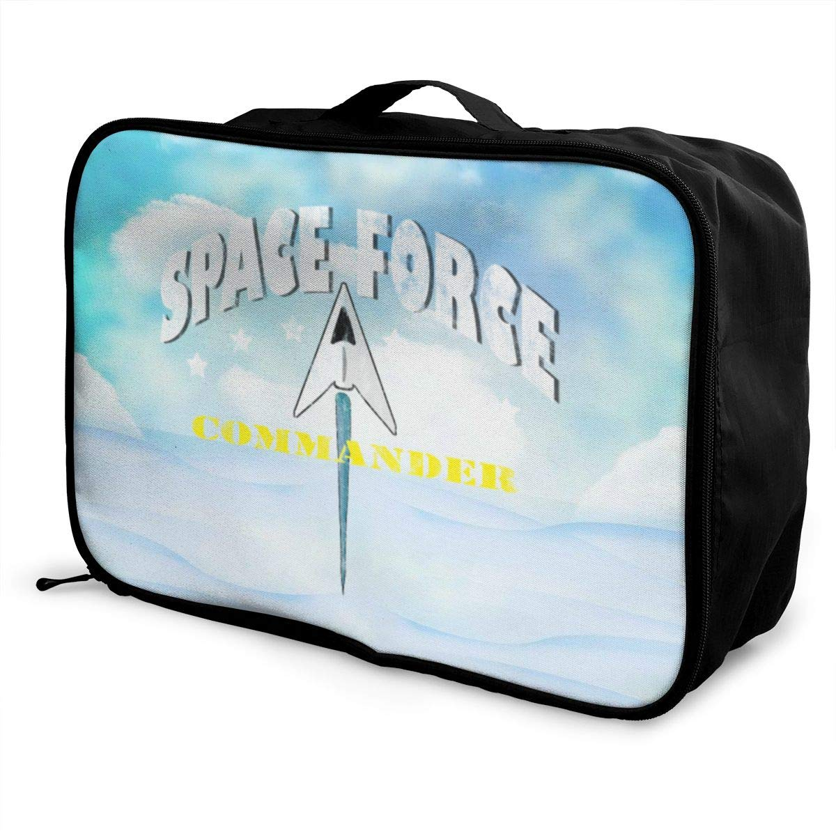 Space Force Commander Travel Lightweight Storage Carry Luggage Duffle Tote Bag