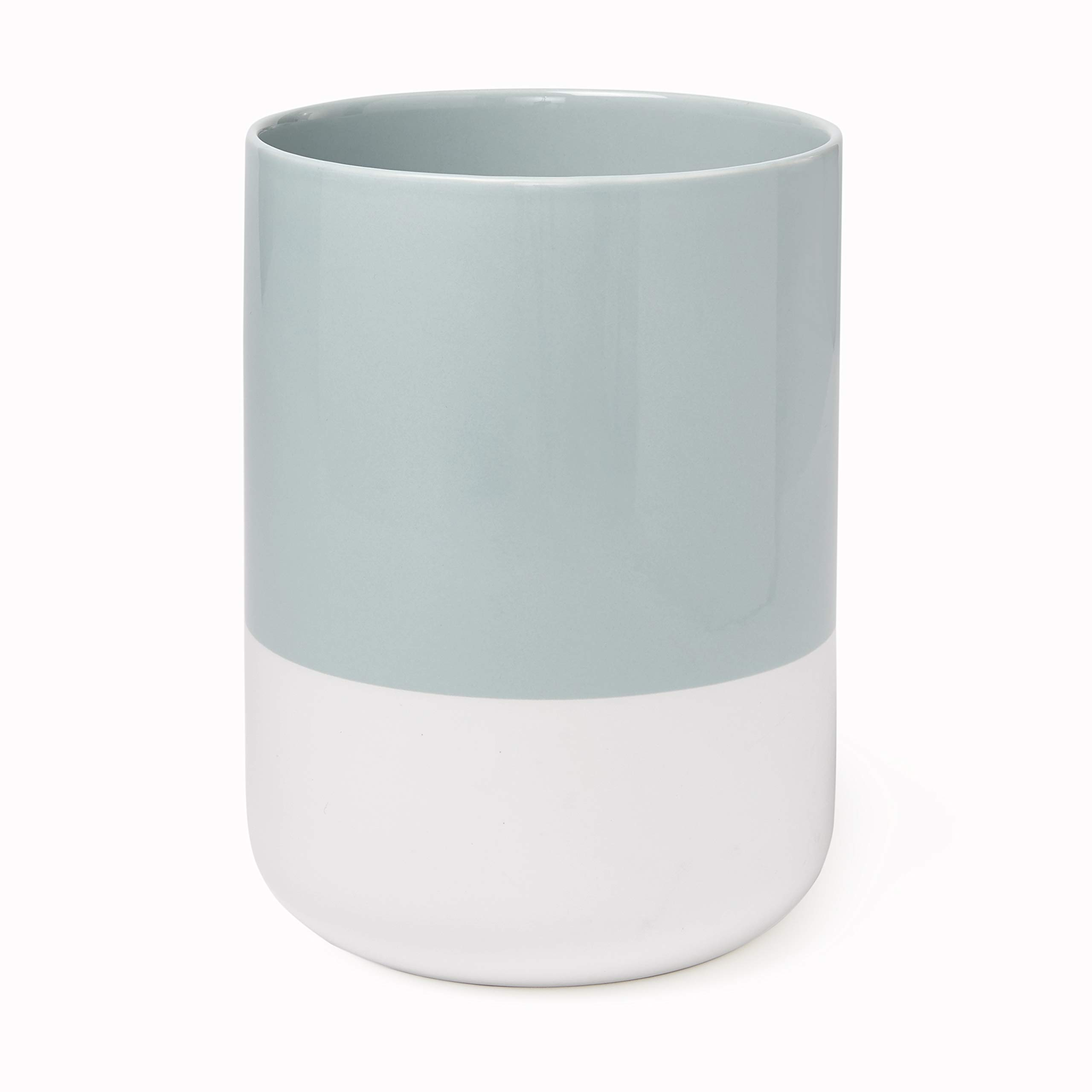 Kate Spade New York Half Dot Waste Basket Bath Accessories, Turquoise/White by Kate Spade New York