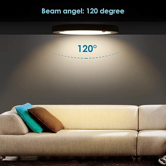 Lámpara de Techo LED con Sensor de Movimiento, de 18 W, de la Marca Albrillo, Daylight White (Motion Activated), 1: Amazon.es: Iluminación