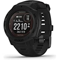 $393 » Garmin Instinct Solar Tactical, Solar-Powered Rugged Outdoor Smartwatch with Tactical…
