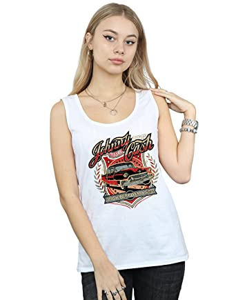 a956701a Amazon.com: Johnny Cash Women's High Performance Tank Top: Clothing