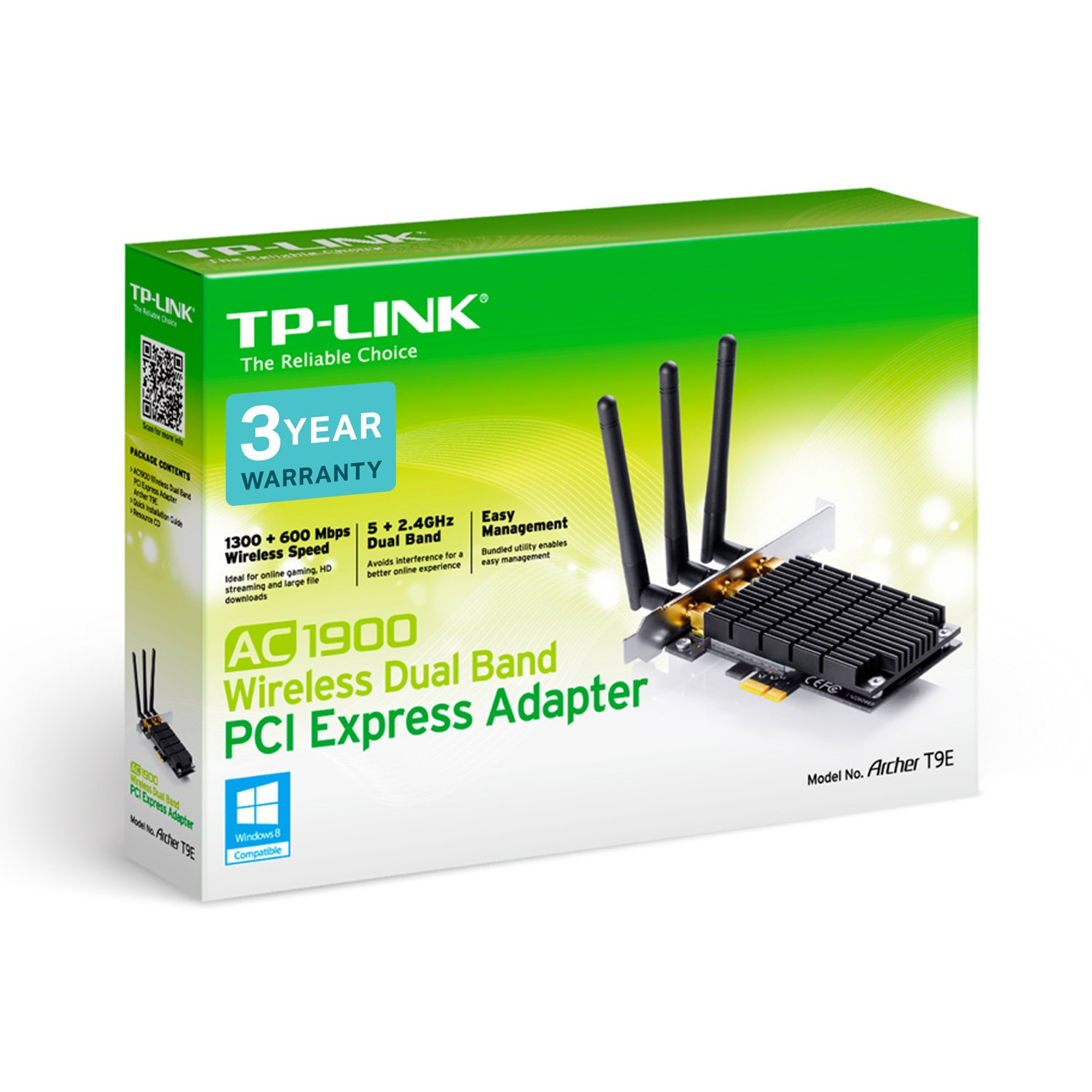 TP-Link AC1900 WiFi PCI-Express Wireless Network Card   Beamforming Technology (Archer T9E)